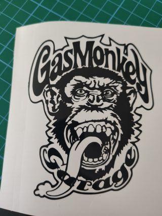 gas monkey pegatina