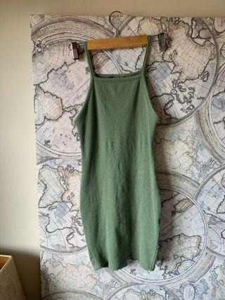 Vestido de tirantes verde S