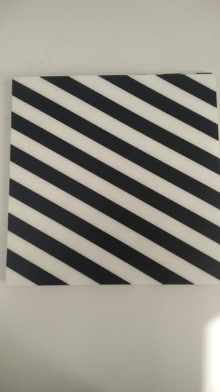 Manteles blanco y negro (18 unidades)
