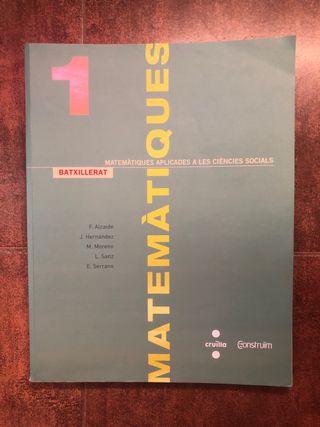 Llibre Matemàtiques 1r Batxillerat