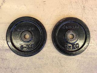 Discos pesas mancuernas 5kg Domyos