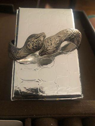 Pulsera plata serpiente