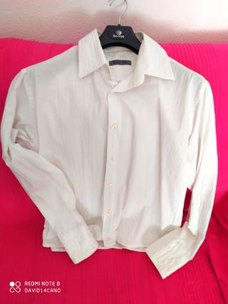 -Camisa Color Blanca Manga Larga Fina (Break -4 )