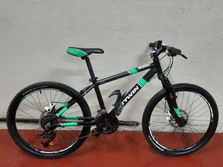 bicicleta b.twin de 24 pulgadas