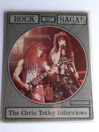 Anthrax lp vinilo picture disc Rock Sagas