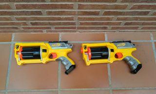 Dos pistolas Nerf niños