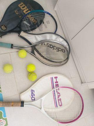 lote de raquetas +pelotas