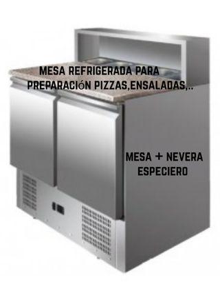 Mesa Refrigerada para hacer Pizzas, ensaladas,...