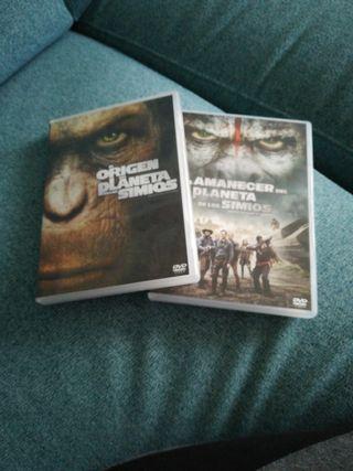 """Dvds de """"El planeta de los simios""""."""
