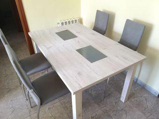 Mesa, mesita y sillas comedor