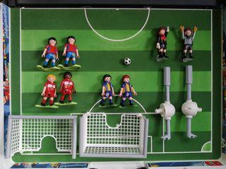 futbolin playmobil maletin