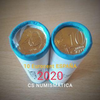 #00 Cartucho 40 Monedas 10 cent€ ESPAÑA 2020