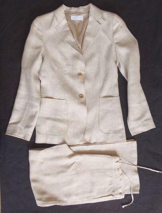 purificacion garcia. traje pantalón. lino