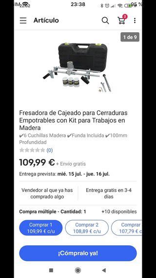 FRESADORA DE CAJEADO PARA CERRADURAS EMPOTRABLES