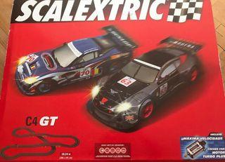 Circuito scalextric C4 más coches