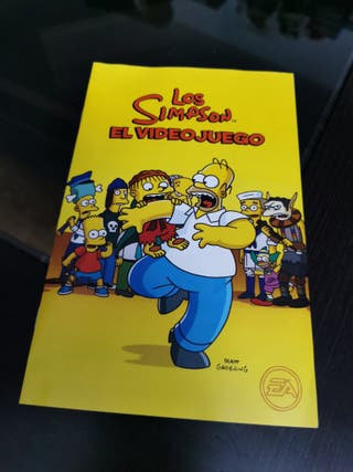 SOLO MANUAL the simpsons el videojuego play 2