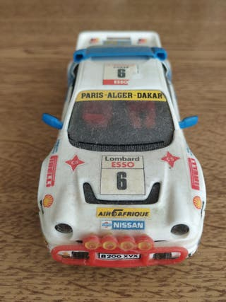 SCALEXTRIC EXIN SLOT COCHE FORD RS200 RALLY 1986.