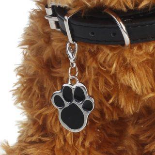 chapa perro clip llavero acero inoxid.negro nuevo