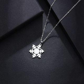 Collar Nieve Plata