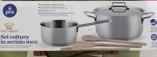 pcs ROYAL NORFOLK Set cottura in acciaio inox
