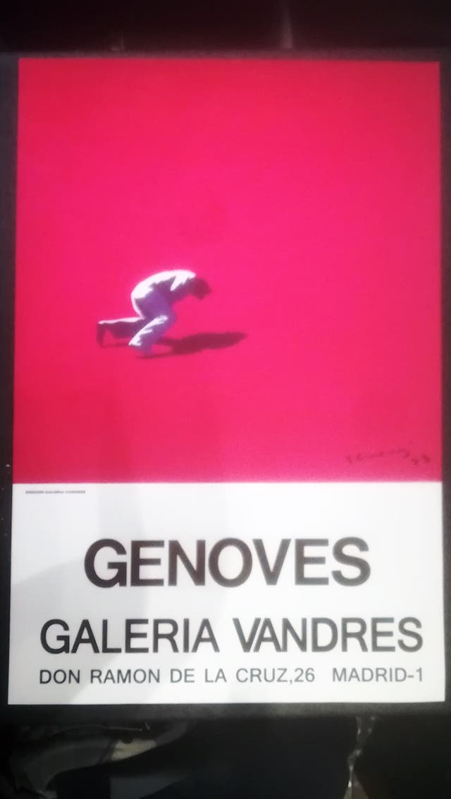 Cartel - Juan Genovès -litografico encartulina Gal