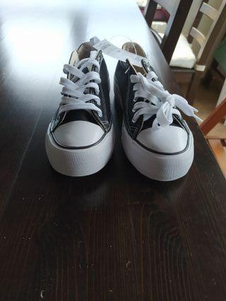 zapatillas lona estilo converse