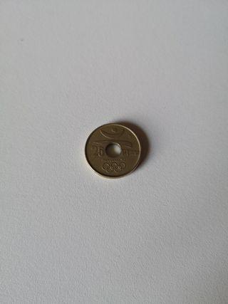 moneda 25 pesetas, Barcelona 1992