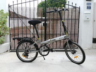 Bici plegable B'Twen Decathlon Gris