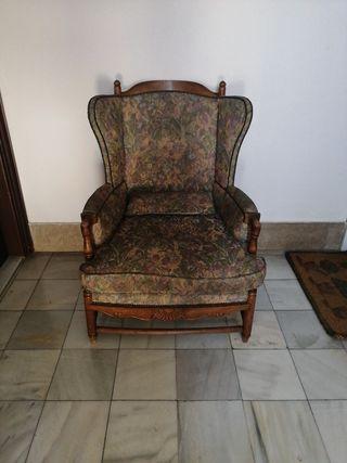 sillón antiguo retro