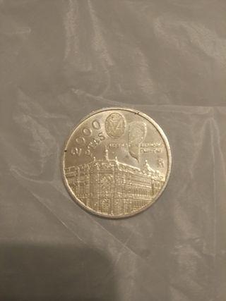 moneda Plata 2000 pts 1994