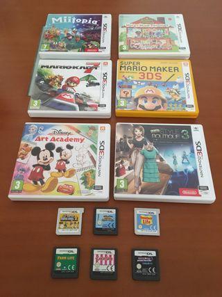 Lote de 12 juegos Nintendo.