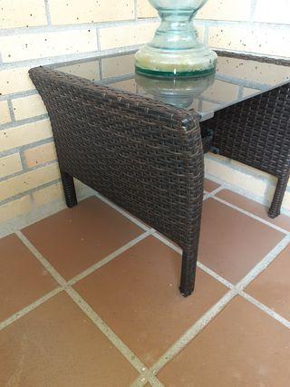 mesa rincón para jardin