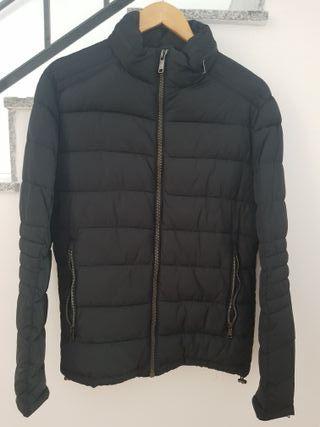 Chaqueta Plumas Negro Zara