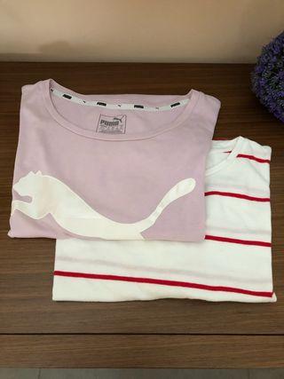 Lote camisetas Puma,Stradivarius S
