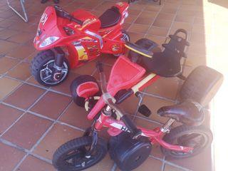 lote bici, moto y kart pedales