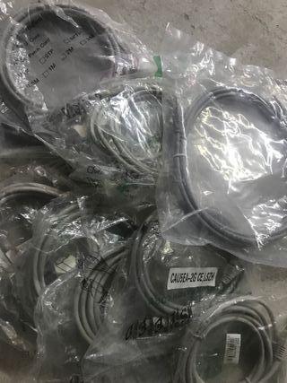 Cables red rj45 cat5 2m (nuevos, sin desembalar)