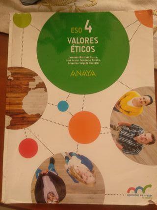 Valores éticos. 4 ESO. Anaya multimedia.