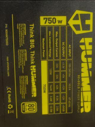Fuente de alimentacion 750w gold