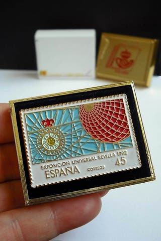 Pin Sello de la Exposición de Sevilla 92