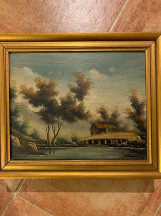Cuadro paisaje óleo sobre lienzo