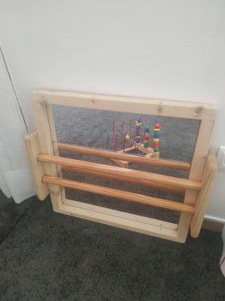 Espejo Montessori con barra