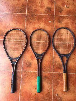 Lote Raquetas Tenis vintage