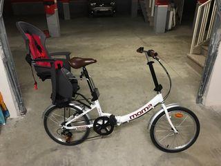 Bici plegable moma + silleta para niños