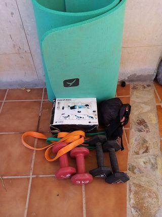 pesas y cosas para deporte