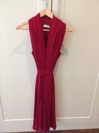 Vestido rojo Calvin Klein