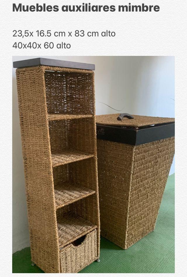 Muebles auxiliares de mimbre