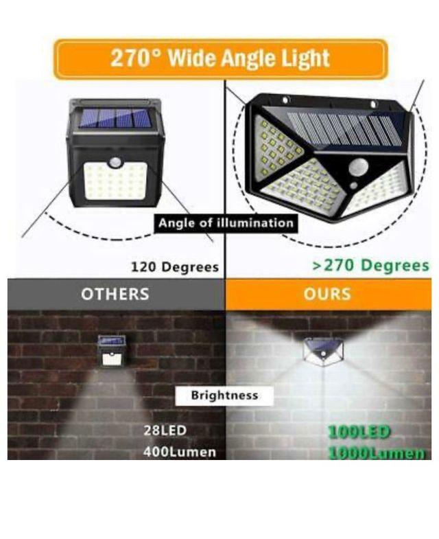 100 LED SOLAR MOTION SENSOR LIGHT