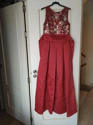 Vestido de fiesta talla M color burdeos