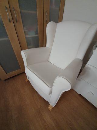 COMO NUEVA - Mecedora sillón lactancia polipiel
