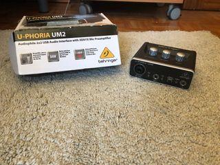 Tarjeta de sonido Uphoria UM2
